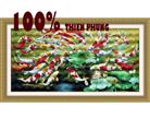 Phú quý (66 con cá) tranh thêu in mầu