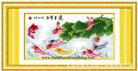 NIÊN NIÊN HỮU DƯ - BẢN MỚI (Tranh thêu phong thủy in màu)