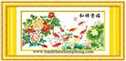 PHÚ GIA TẤN LỘC (PHÚ QUÝ BÌNH AN) (Tranh thêu phong thủy in màu)
