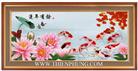 Ngư phúc đồ - Bản mộc (Tranh thêu phong thủy in màu)