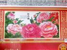 Hoa mẫu đơn khoe sắc (Phú Qúy) (Tranh thêu các loài hoa in màu)