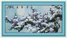 Hoa Đào trong tuyết lạnh  (Tranh thêu các loại hoa in màu)
