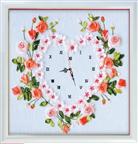 Đồng hồ trái tim tình yêu (Tranh thêu Ruy Băng)