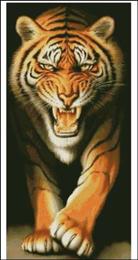 Chúa Sơn Lâm (Tranh thêu chữ thập con Hổ in màu)
