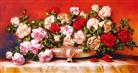 GIAI ĐIỆU TÌNH YÊU (Tranh thêu ruy băng các loại hoa)