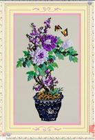 HOA HẠNH PHÚC (Tranh thêu ruy băng các loại hoa)