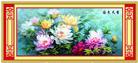 Mẫu đơn khoe sắc - Bản mới (Tranh thêu chữ thập hoa mẫu đơn in màu)