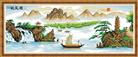 Thuận buồm xuôi gió (Tranh thêu chữ thập phong cảnh in màu)