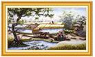 Hương vị thôn quê (Tranh thêu chữ thập phong cảnh in màu)