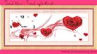 Hoa hồng trái tim (in màu)