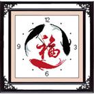 Tranh Đồng hồ Quanh năm dư giả (in mầu)