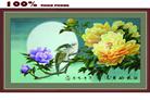 Hoa hảo nguyệt viên- tranh thêu in mầu