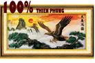Đại bàng tung cánh (nguồn tài cuồn cuộn) - tranh thêu con vật