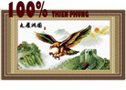 Đại bàng tung cánh (thành công) -tranh thêu in mầu -  tranh thêu con vật - tranh thêu chim